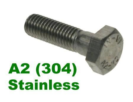 Picture for category Hex Bolts A2 Stainless