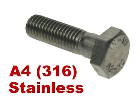 Picture for category Hex Bolts A4 Stainless