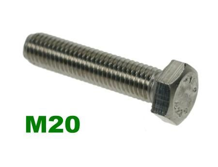 Picture for category M20 Hex Setscrews A2 Stainless