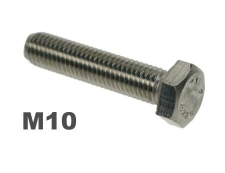 Picture for category M10 Hex Setscrews 8.8 Galv Finish