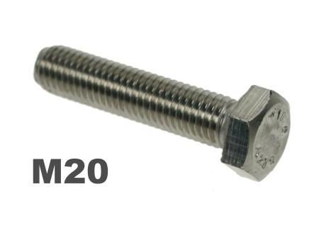 Picture for category M20 Hex Setscrews 8.8 Galv Finish