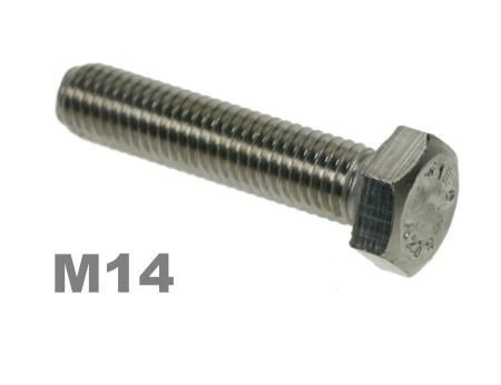 Picture for category M14 Hex Setscrews 8.8 Zinc Finish