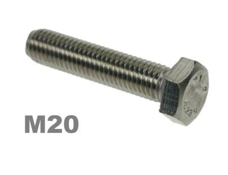 Picture for category M20 Hex Setscrews 8.8 Zinc Finish