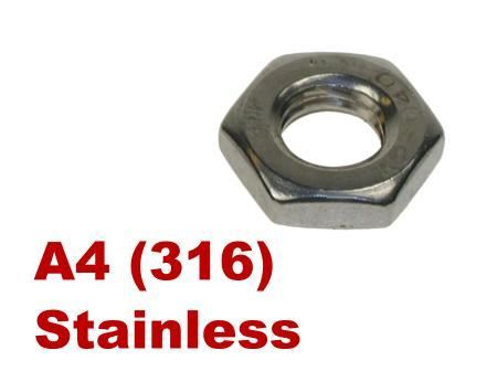 Picture for category Half Nuts A4 Stainless