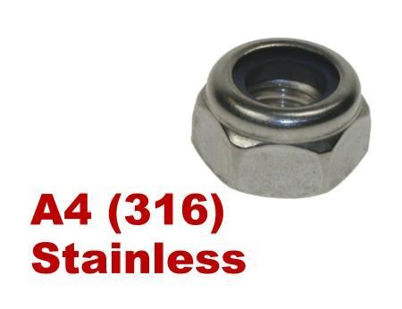 Picture for category Nylon Insert Nuts A4 Stainless