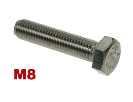 Picture for category M8 Hex Setscrews A4 Stainless