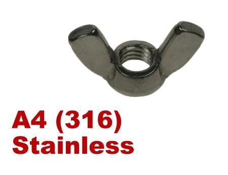 Picture for category Wingnuts A4 Stainless