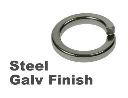 Picture for category Spring Washers Steel Galvanised Finish