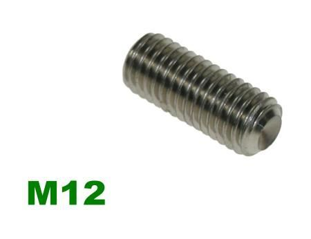 Picture for category M12 Socket Setscrew A2 Stainless