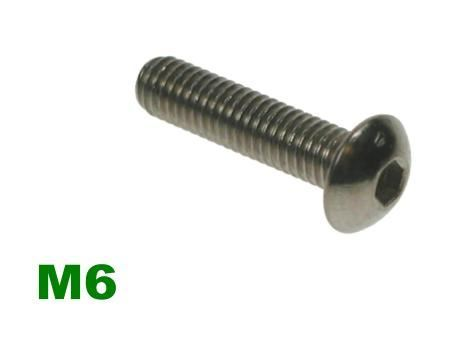 Picture for category M6 Socket Button A2 Stainless