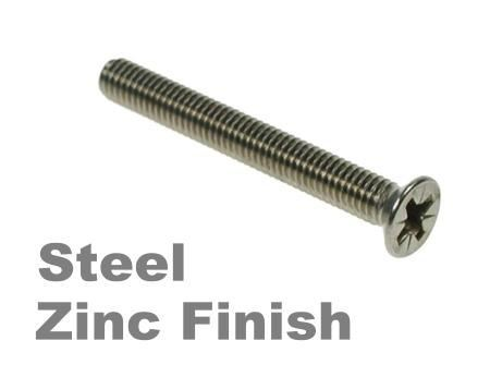 Picture for category Pozi Csk Machine Screw Zinc Finish