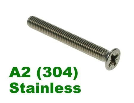 Picture for category Pozi Csk Machine Screw A2 Stainless