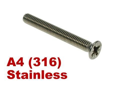 Picture for category Pozi Csk Machine Screw A4 Stainless