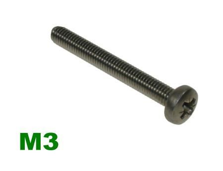 Picture for category M3 Pozi Pan Machine Screw A2 Stainless
