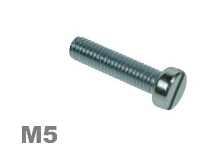Picture for category M5 SLOTTED CHEESE MACHINE SCREW ZINC Finish