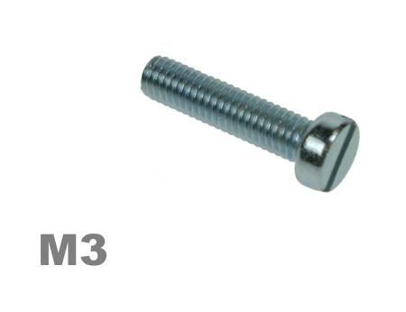Picture for category M3 SLOTTED CHEESE MACHINE SCREW ZINC Finish