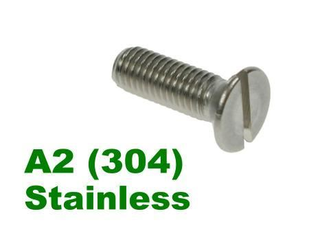 Picture for category Slotted Csk Machine Screws A2 Stainless