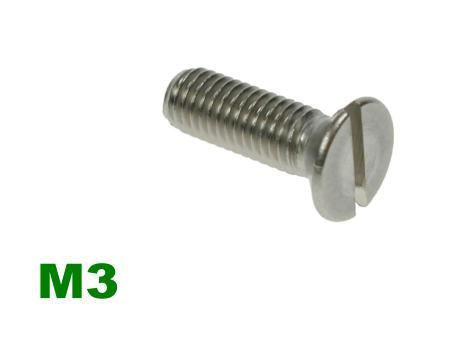 Picture for category M3 Slotted Csk Machine Screw A2 Stainless