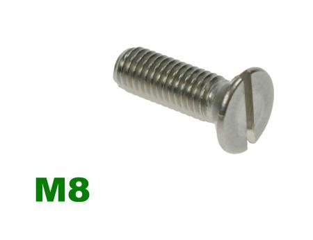 Picture for category M8 Slotted Csk Machine Screw A2 Stainless
