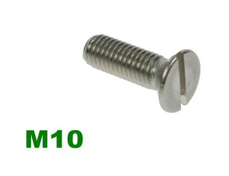 Picture for category M10 Slotted Csk Machine Screw A2 Stainless