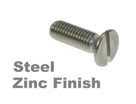 Picture for category Slotted Csk Machine Screws DIN963 Zinc Finish