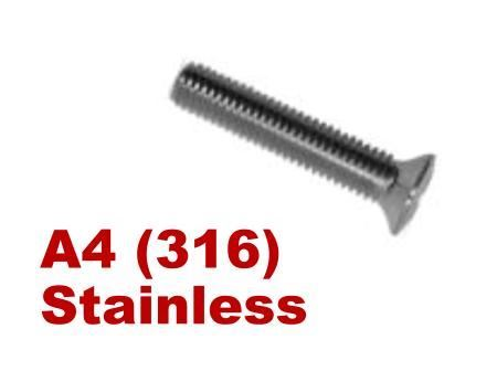 Picture for category Pozi Raised Csk Machine Screws A4 Stainless