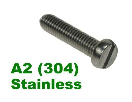 Picture for category Slotted Pan Machine Screws DIN85 A2 Stainless