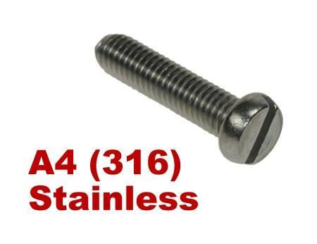 Picture for category Slotted Pan Machine Screws DIN85 A4 Stainless