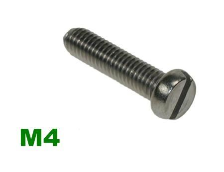 Picture for category M4 Slotted Pan Machine Screw A2 Stainless