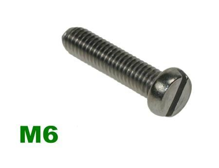 Picture for category M6 Slotted Pan Machine Screw A2 Stainless
