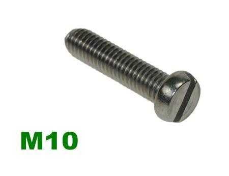 Picture for category M10 Slotted Pan Machine Screw A2 Stainless