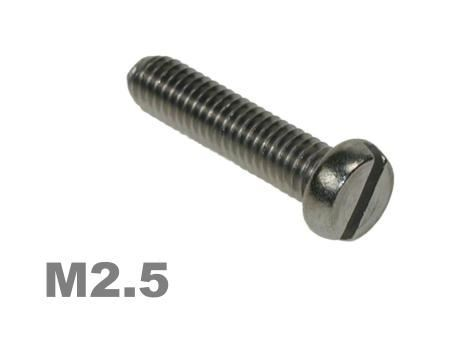 Picture for category M2.5 Slotted Pan Machine Screw Zinc Finish
