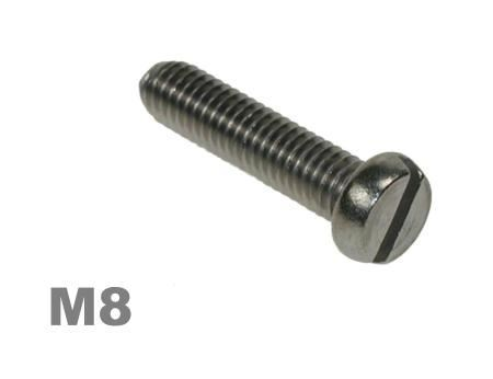 Picture for category M8 Slotted Pan Machine Screw Zinc Finish