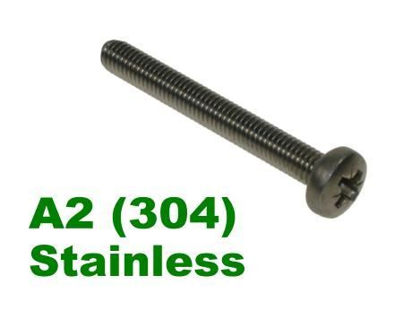 Picture for category Pozi Pan Machine Screw A2 Stainless