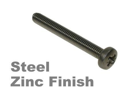 Picture for category Pozi Pan Machine Screw Zinc Finish