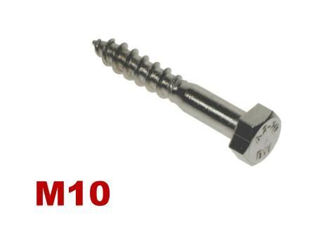Picture for category M10 HEX COACHSCREW A4 Stainless