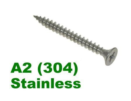 Picture for category POZI CSK CHIPBOARD SCREWS A2 Stainless