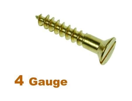 Picture for category 4G 2.9mm Dia Slotted Csk Woodscrew Brass