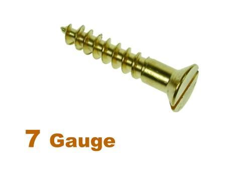Picture for category 7G 3.8mm Dia Slotted Csk Woodscrew Brass