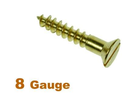 Picture for category 8G 4.2mm Dia Slotted Csk Woodscrew Brass