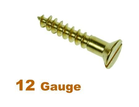 Picture for category 12G 5.5mm Dia Slotted Csk Woodscrew Brass