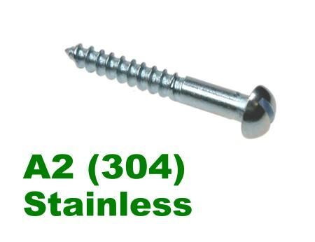 Picture for category Slotted Round Woodscrew A2 Stainless