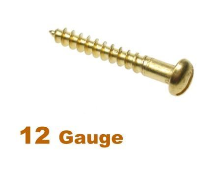 Picture for category 12G 5.5mm Dia Slotted Round Woodscrew Brass