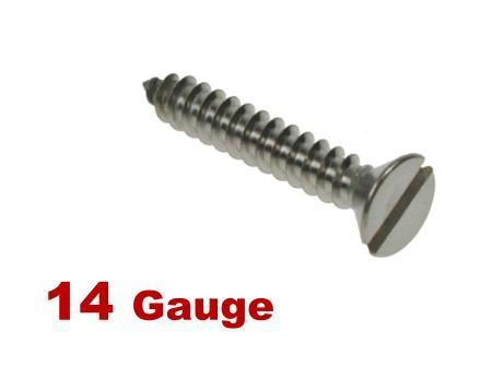 Picture for category 14G 6.3mm Dia Slotted Csk Self Tapper A4 Stainless