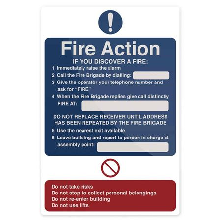 Picture for category Fire Action and Alarm Signage (incl. Extinguishers)